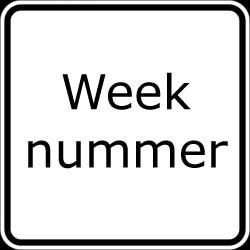 Weeknummer Vandaag